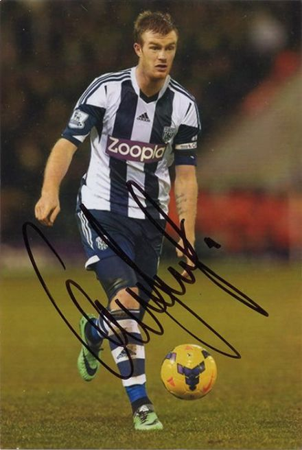 Chris Brunt, West Brom & Northern Ireland, signed 6x4 inch photo.